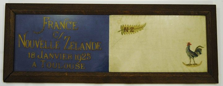 1925 France v NZ Touch Judge Flag - Rugby Memorabilia Society