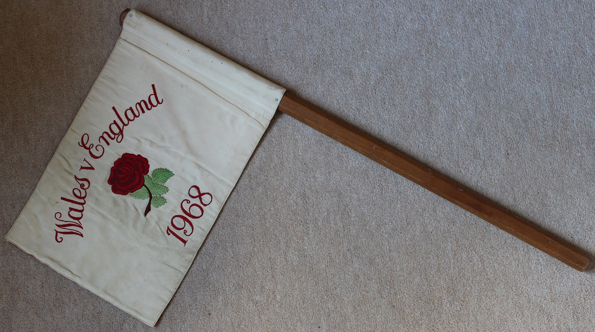 1968 England v Wales Touch Judge Flag