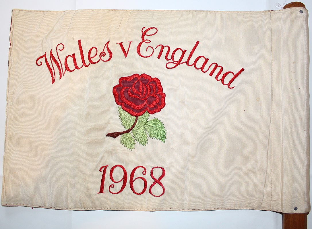 1968 Wales v England Touch Judge Flag