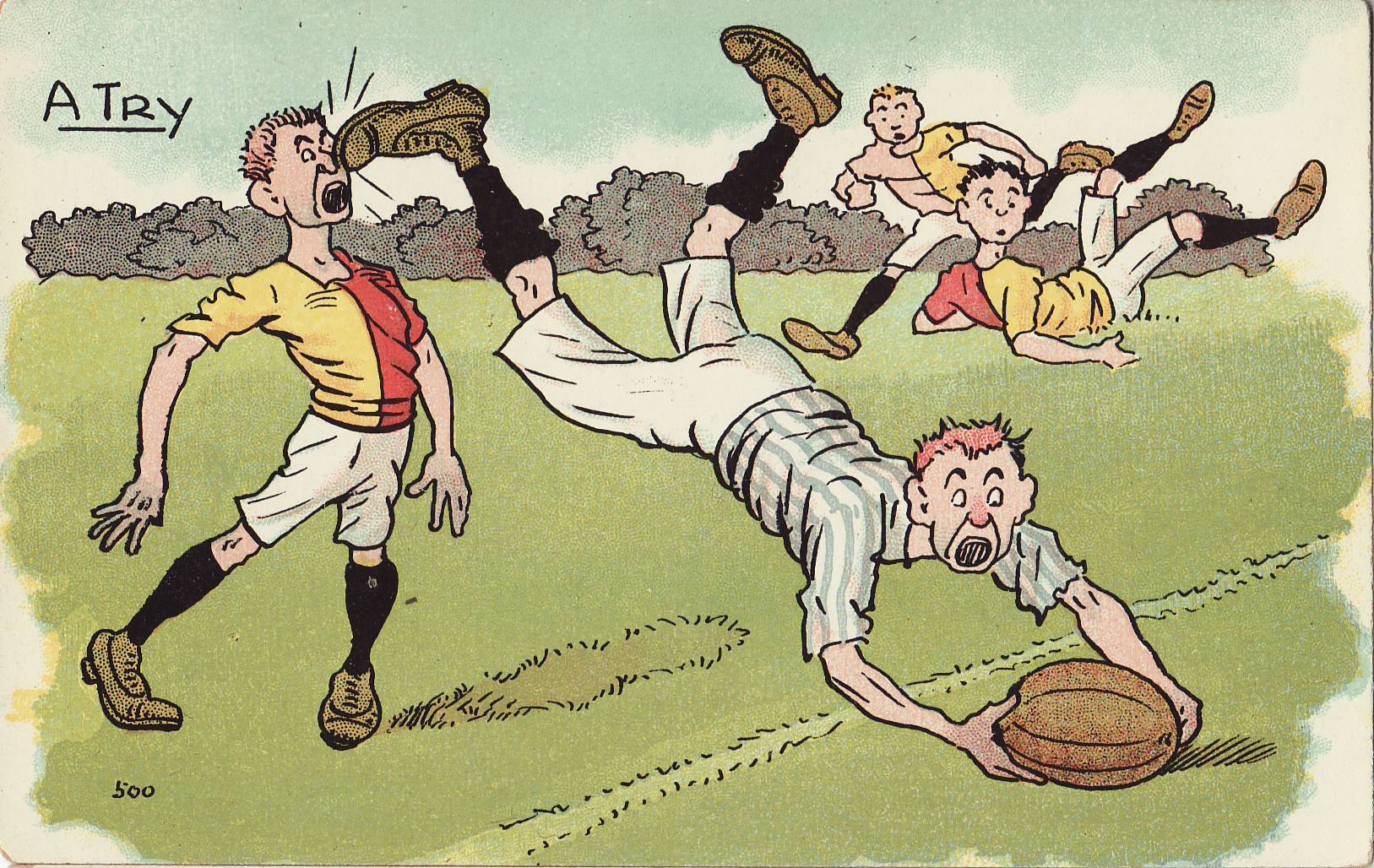 Tom Browne - Rugby Poscards (6)